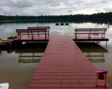 The swimming dock.