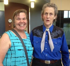 Me and Temple Grandin. Her generosity to so many people who wanted to meet her and have a few words with her is awe inspiring.
