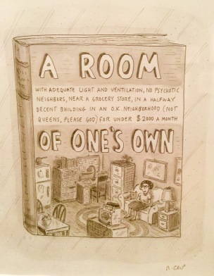 Roz Chast cartoon exhibit