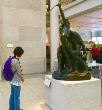 Julia always drawn to sculpture.