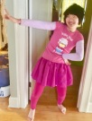 Julia had no trouble finding suitable pink to wear to the Women's March.