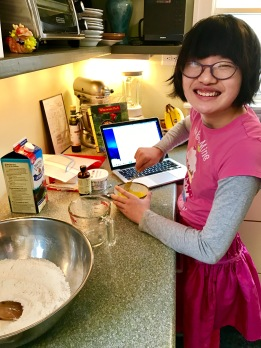 Learning to make pancakes.
