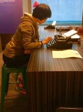 A challenging manual typewriter