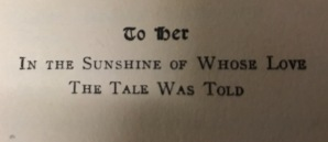 A sweet dedication in an old novel that Julia picked up in an antique shop in Washburn.