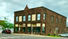 Another brown stone building in Washburn.