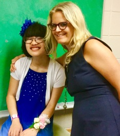 Julia and her teacher, Erin Grueter