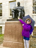 And for some reason it is good luck to rub John Harvard's toes